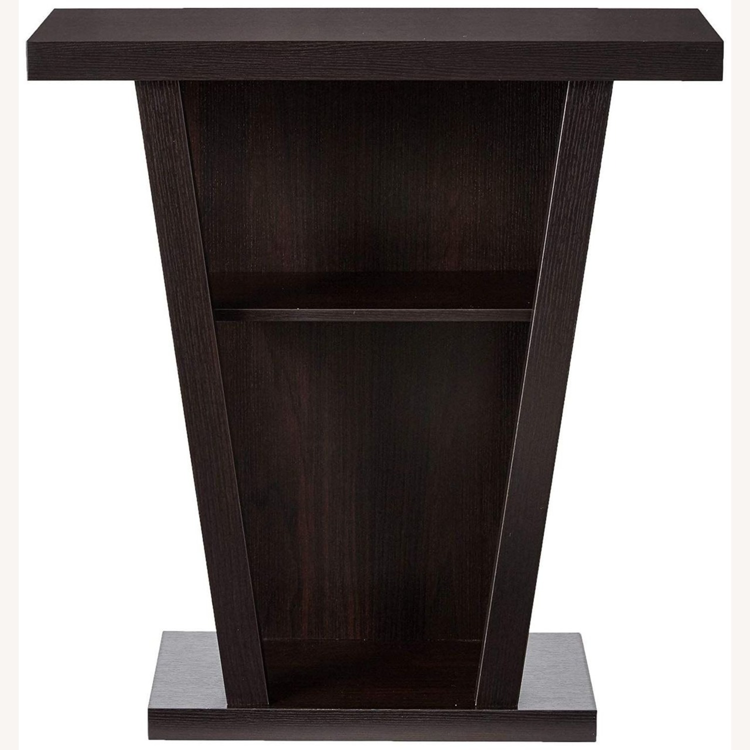 Console Table In Cappuccino W/ 2-Shelves Storage - image-1