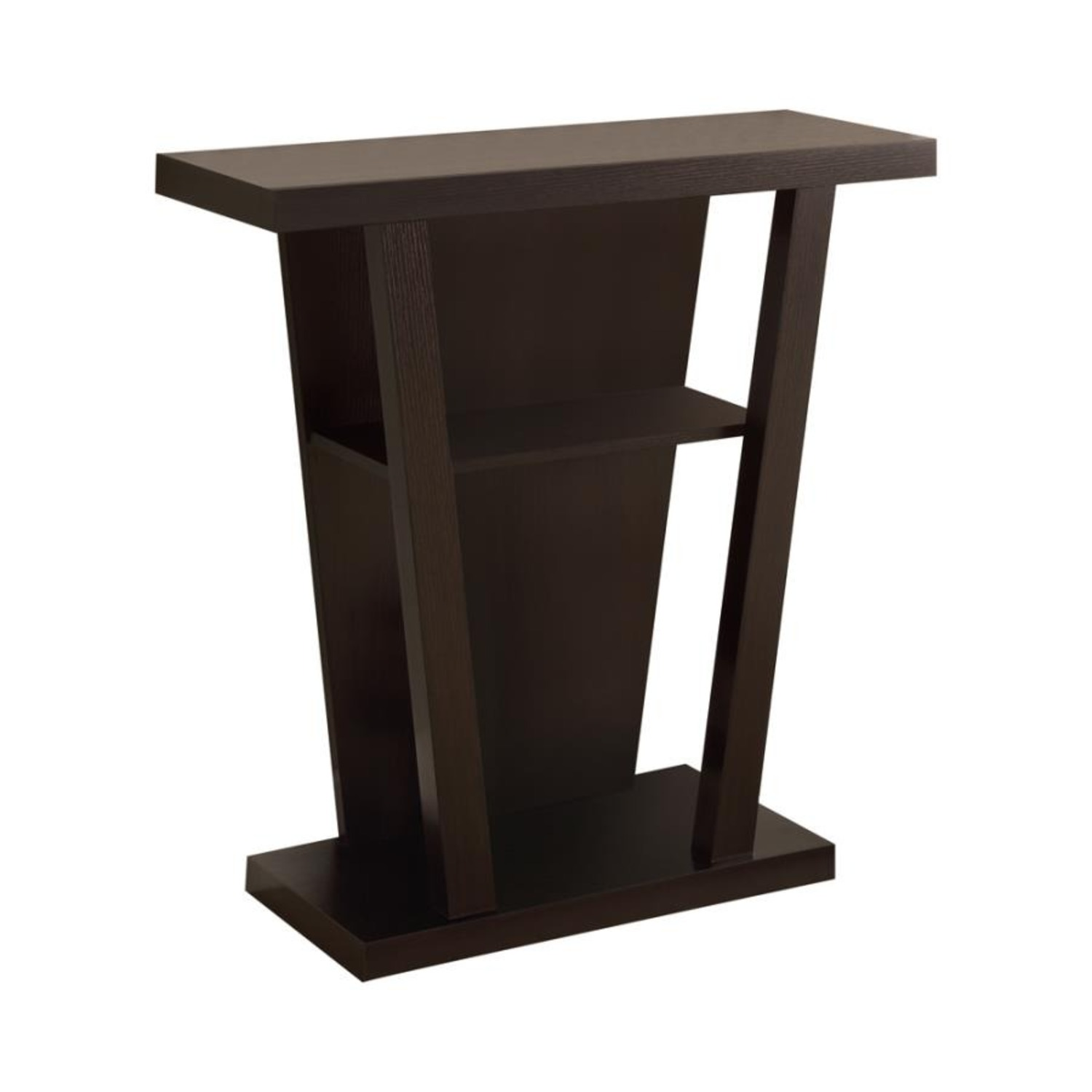 Console Table In Cappuccino W/ 2-Shelves Storage - image-0