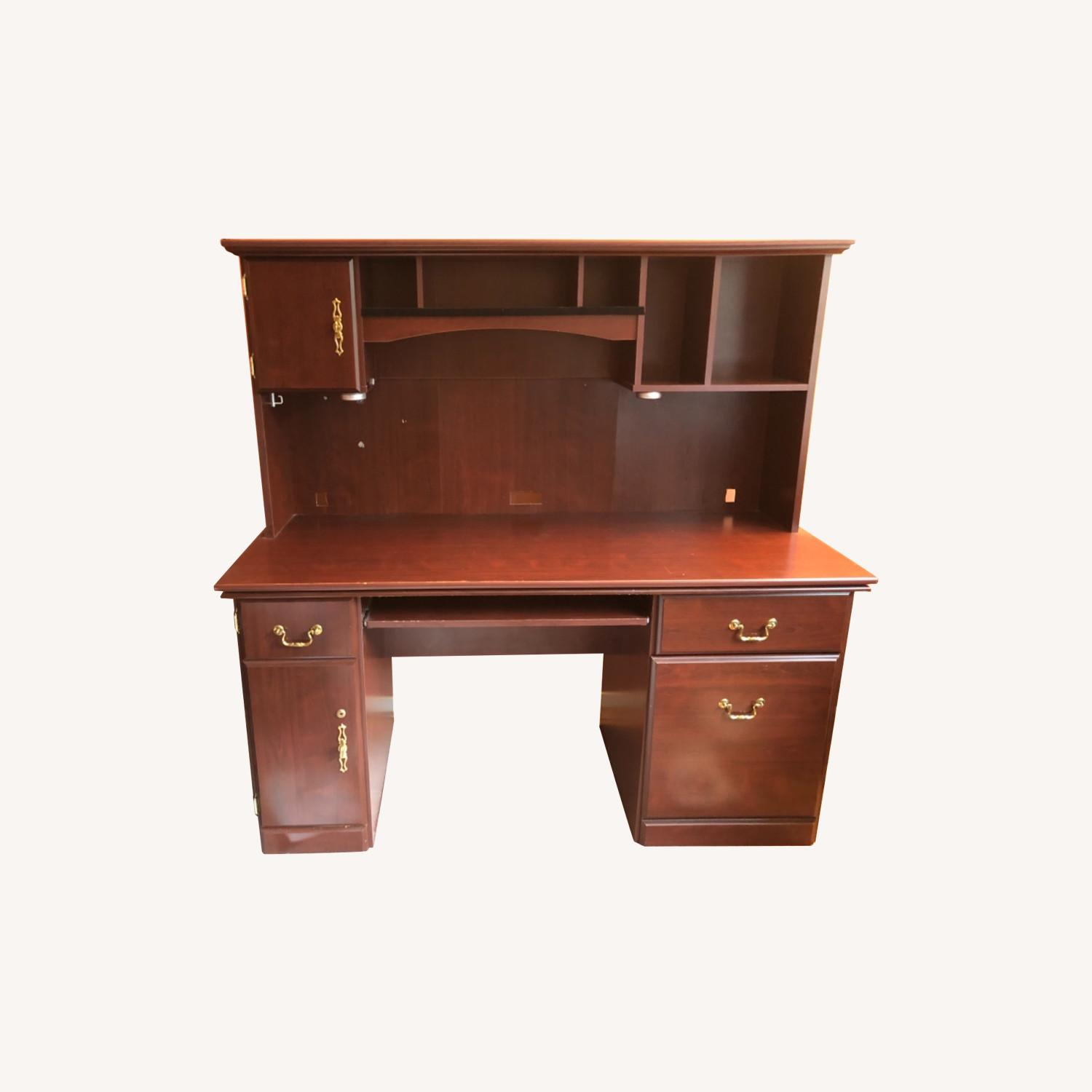 Executive Desk in Cherry Wood - image-0