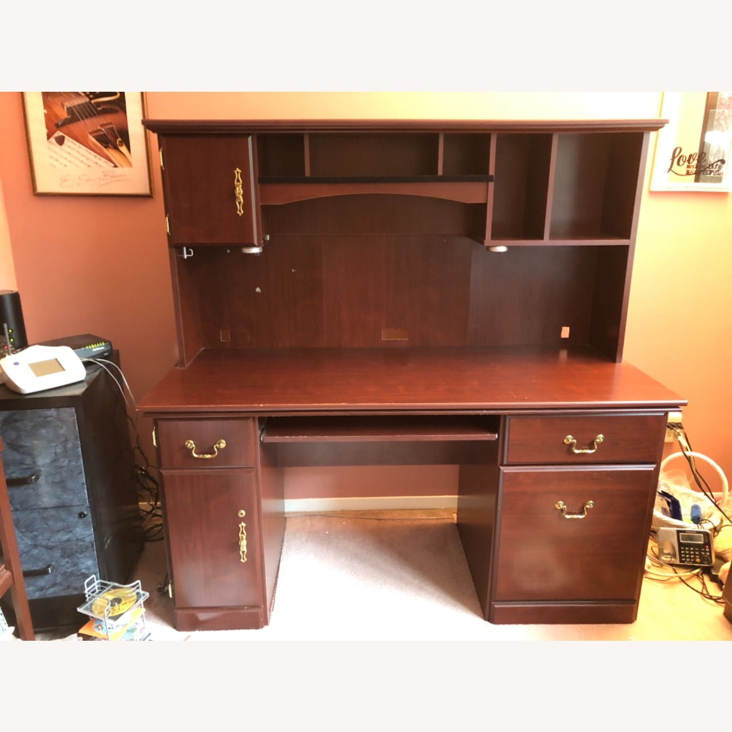 Executive Desk in Cherry Wood - image-3