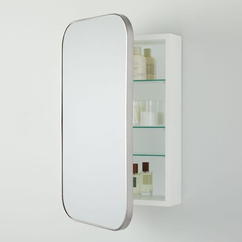 West Elm Seamless Medicine Cabinets, Chrome - image-2