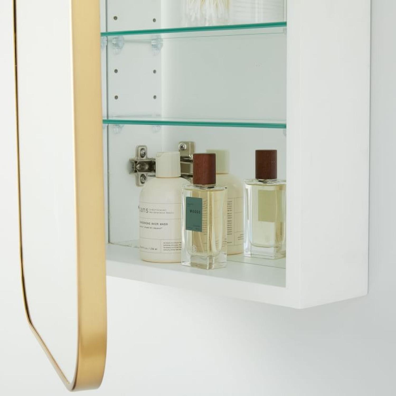 West Elm Seamless Medicine Cabinets, Antique Brass - image-2