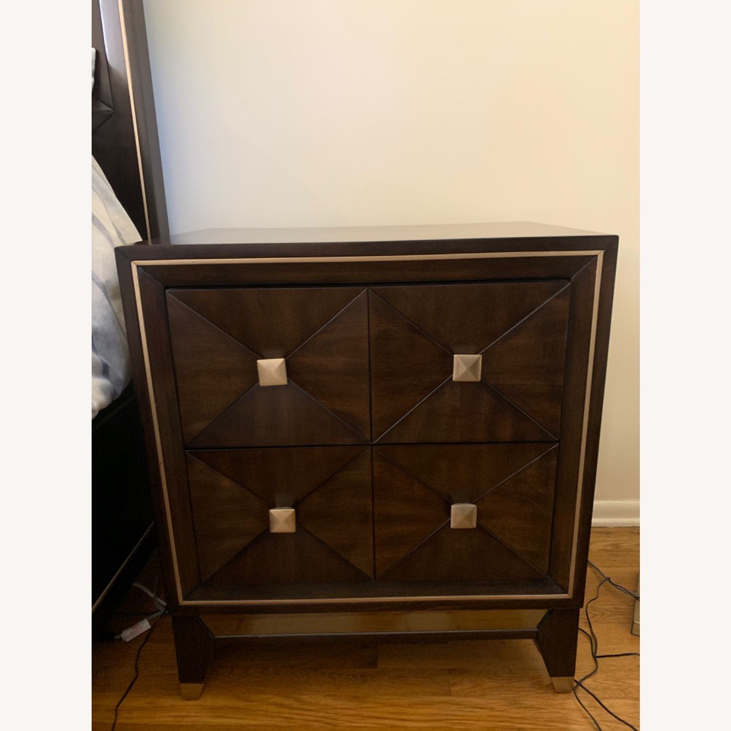 Bob's Discount Furniture Chocolate Nightstand - image-1