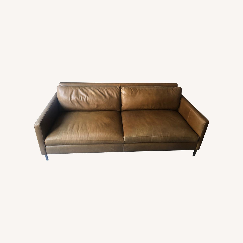 ABC Carpet and Home Leather Sofa - image-0