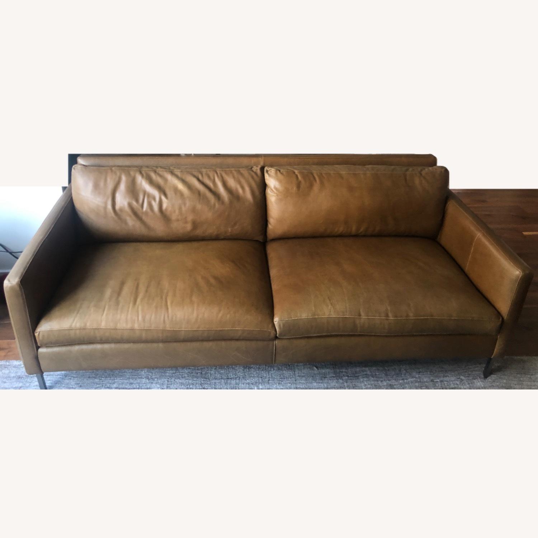 ABC Carpet and Home Leather Sofa - image-1