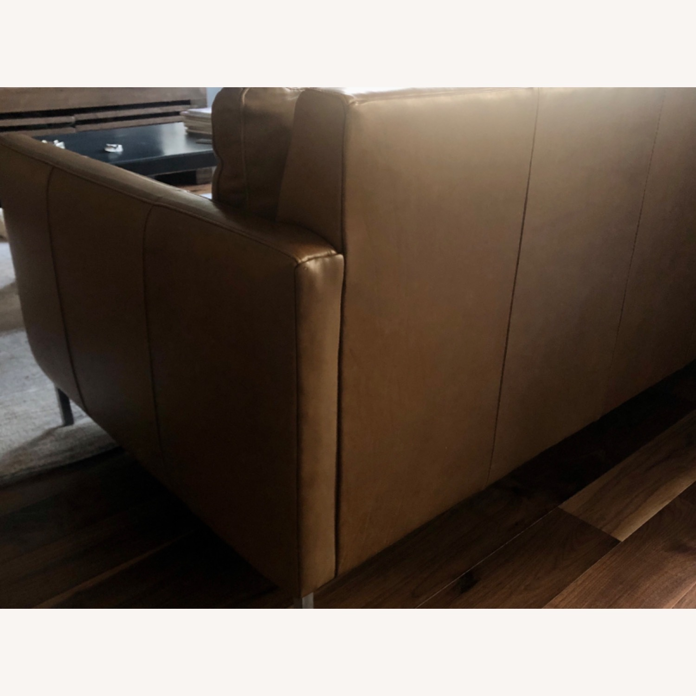 ABC Carpet and Home Leather Sofa - image-3