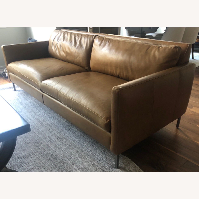 ABC Carpet and Home Leather Sofa - image-2