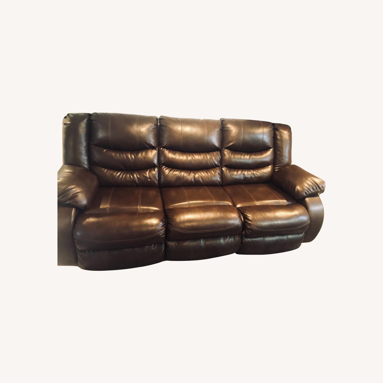 Wayfair Genuine Leather Sofa - image-0