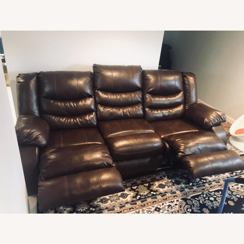 Wayfair Genuine Leather Sofa - image-4