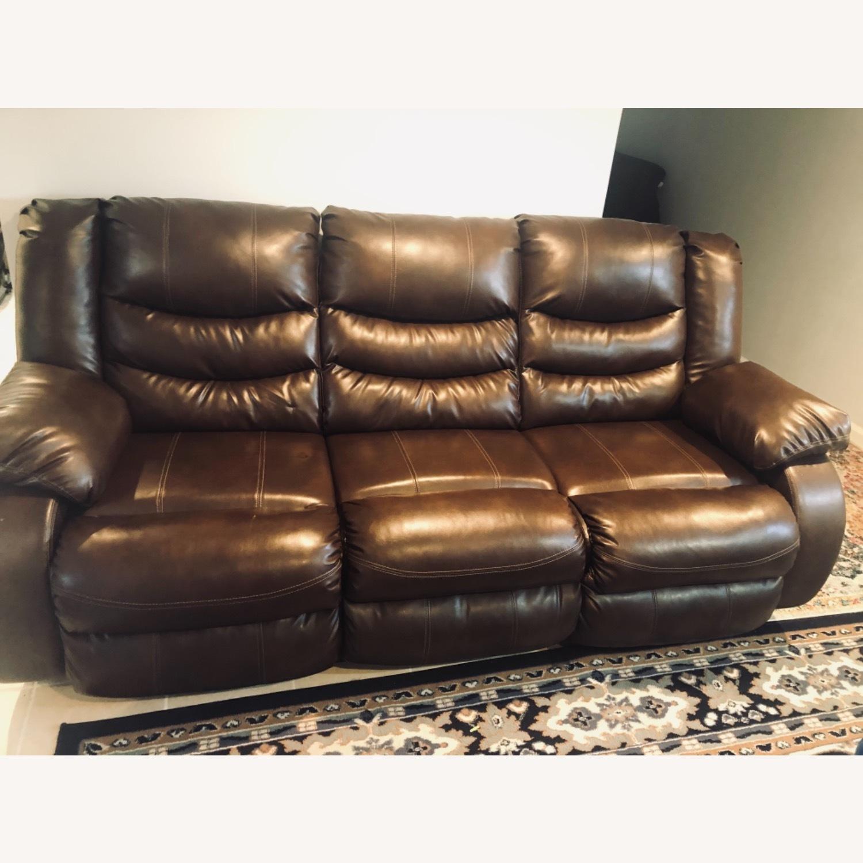 Wayfair Genuine Leather Sofa - image-3