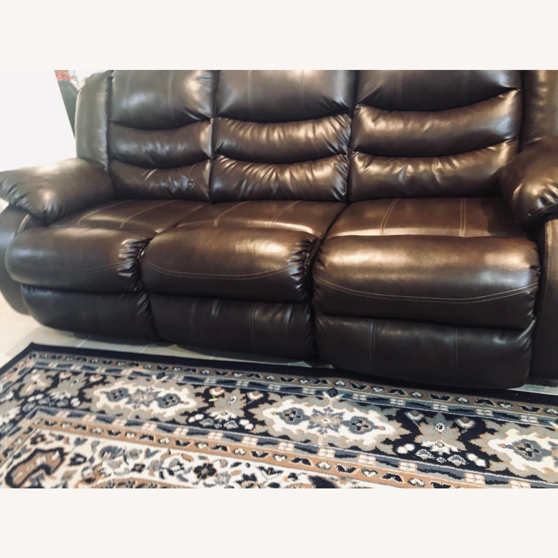 Wayfair Genuine Leather Sofa - image-1