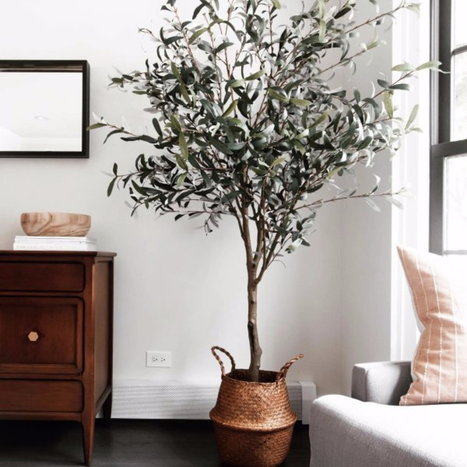 Crate & Barrel 7 Foot Faux Olive Tree - image-4