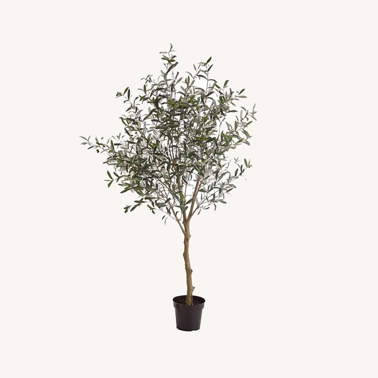 Crate & Barrel 7 Foot Faux Olive Tree - image-0