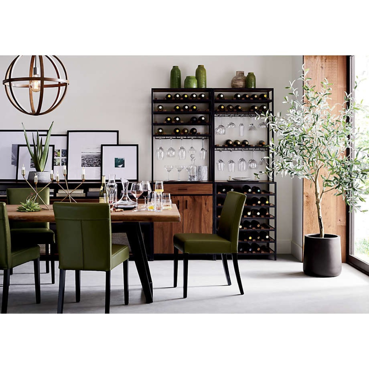 Crate & Barrel 7 Foot Faux Olive Tree - image-5