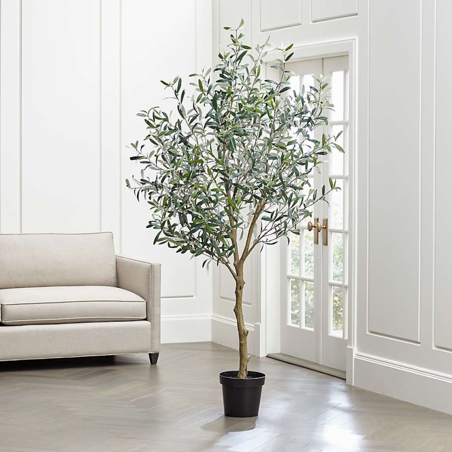Crate & Barrel 7 Foot Faux Olive Tree - image-3