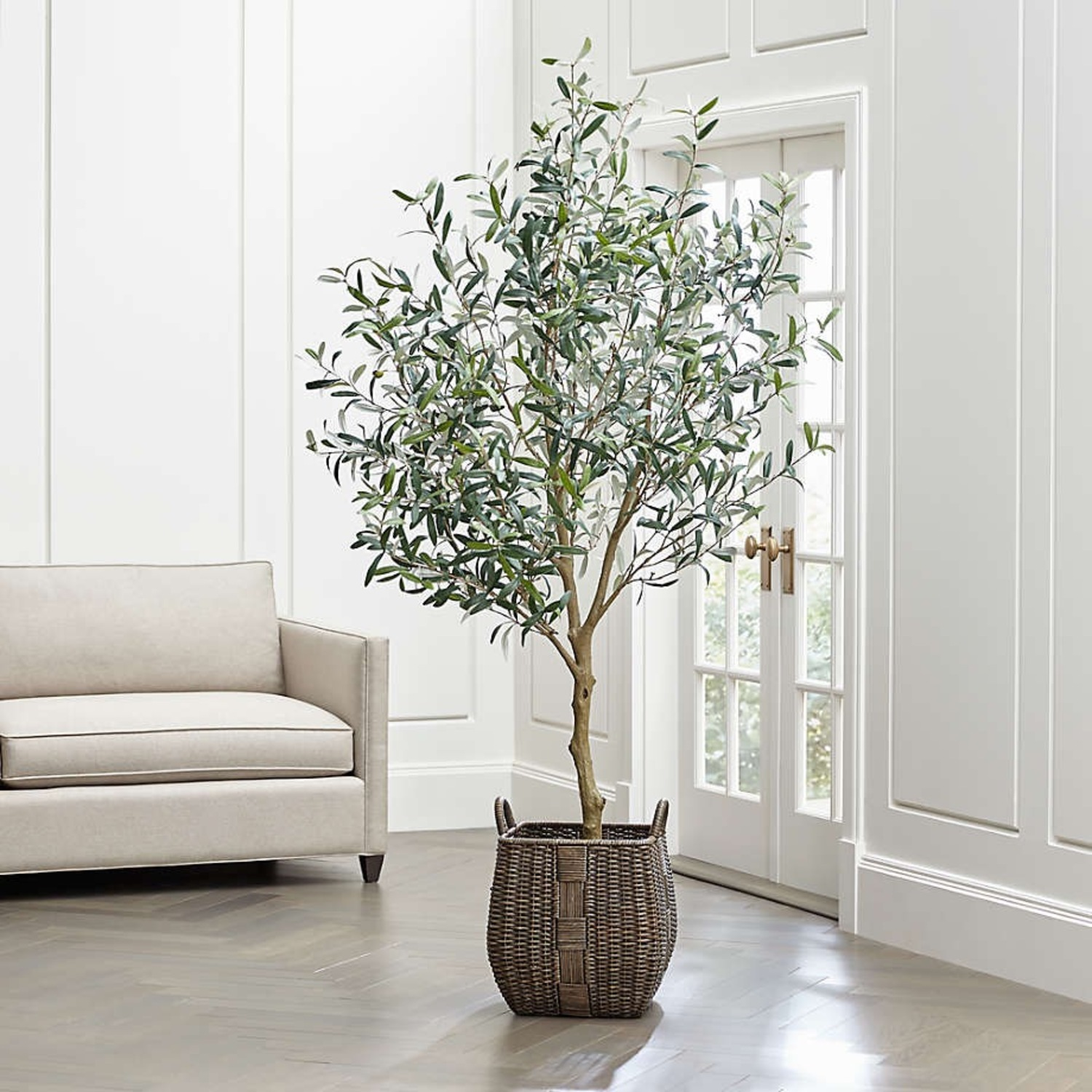 Crate & Barrel 7 Foot Faux Olive Tree - image-1