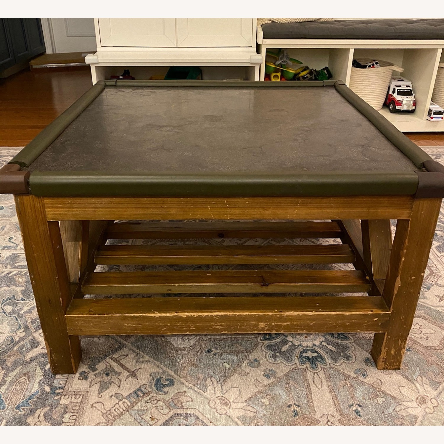 Macy's Natural Wood and Stone Coffee Table - image-3