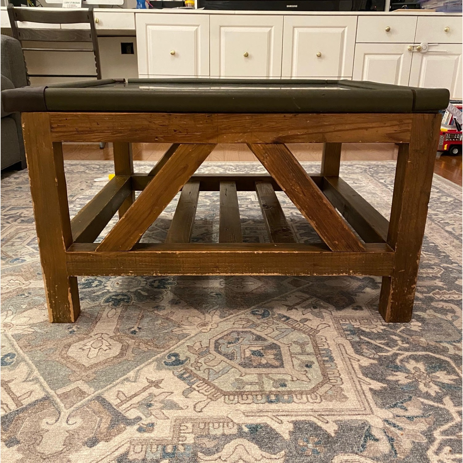 Macy's Natural Wood and Stone Coffee Table - image-2