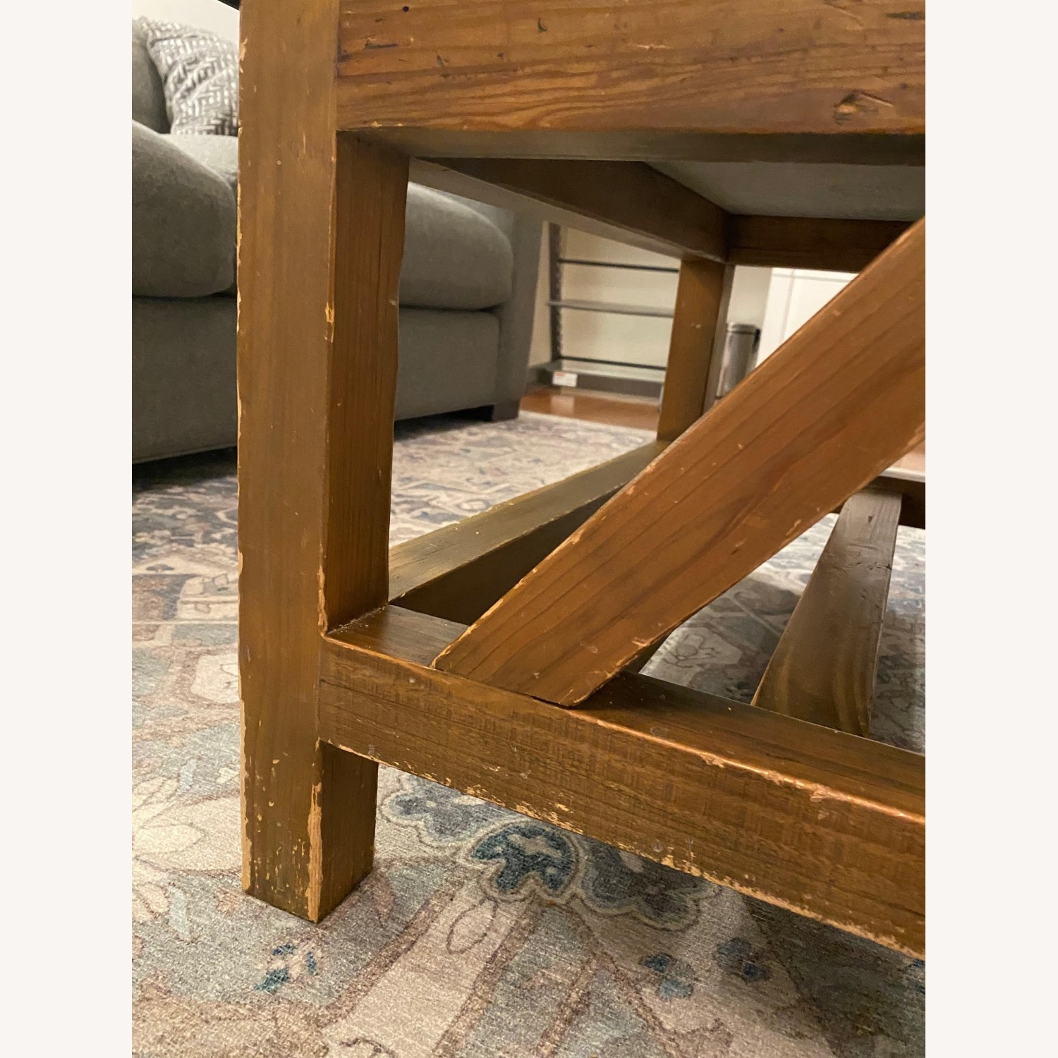 Macy's Natural Wood and Stone Coffee Table - image-4