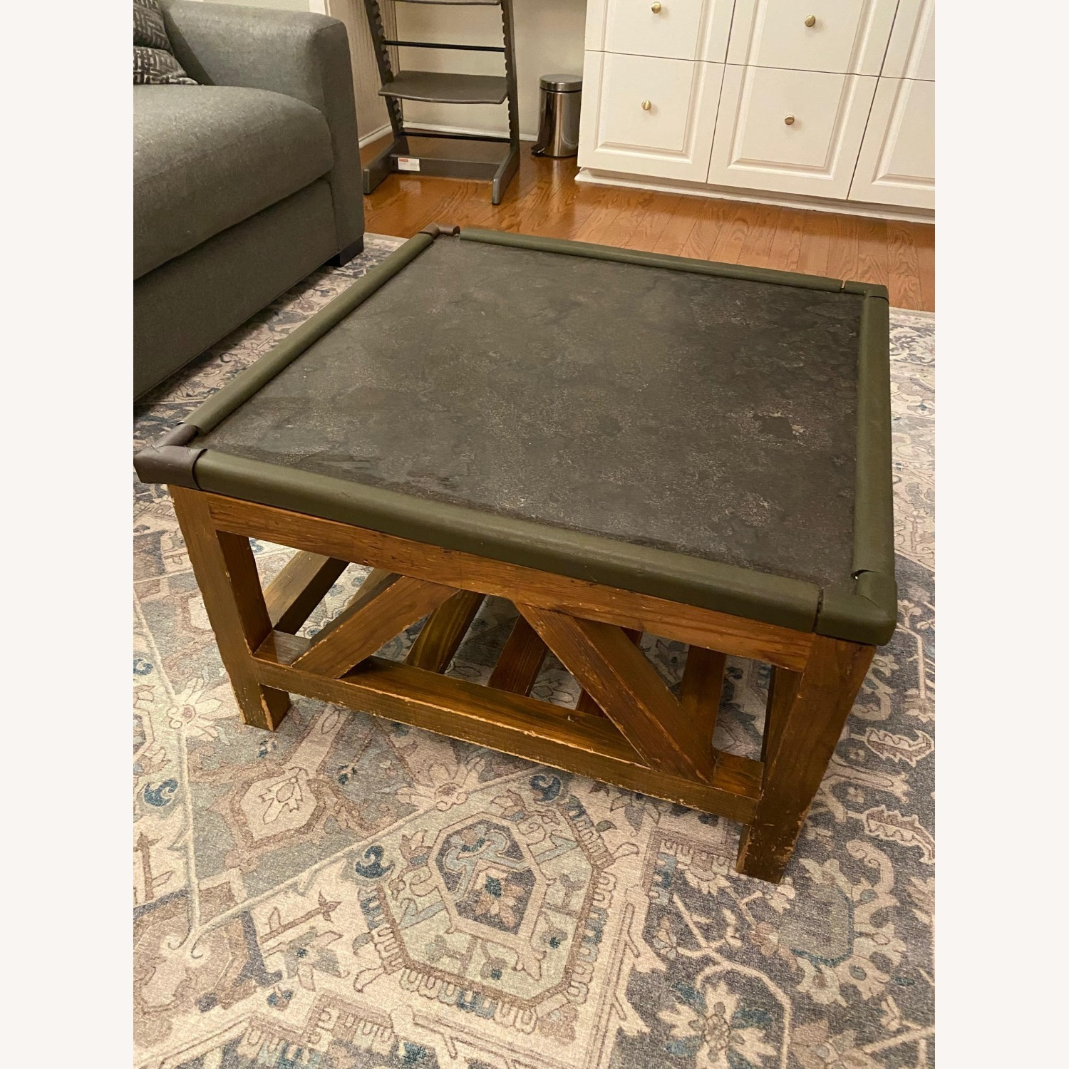 Macy's Natural Wood and Stone Coffee Table - image-1