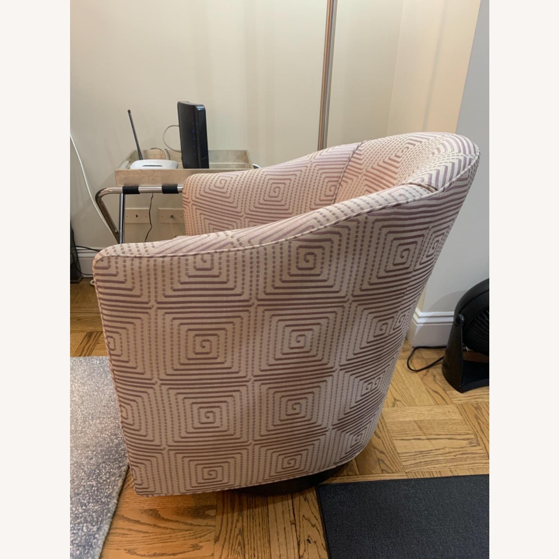 Custom Upholstered Swivel Accent Chair - image-3