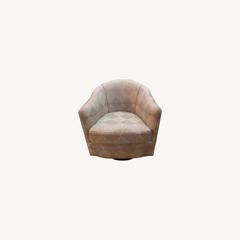 Custom Upholstered Swivel Accent Chair - image-0