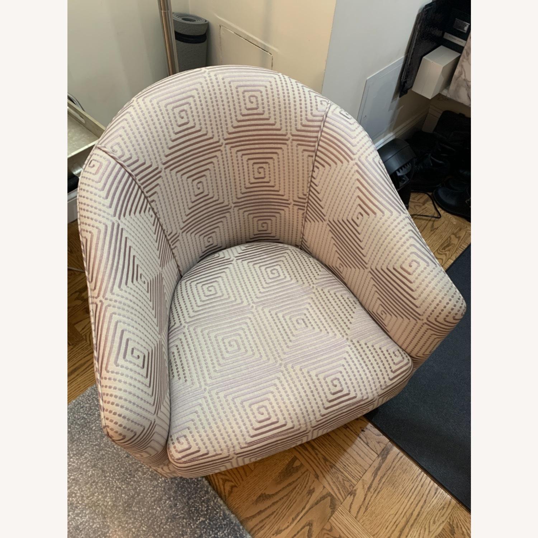 Custom Upholstered Swivel Accent Chair - image-6
