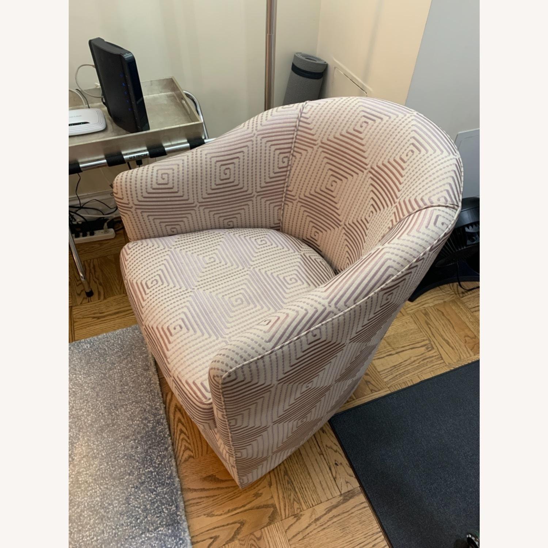 Custom Upholstered Swivel Accent Chair - image-2