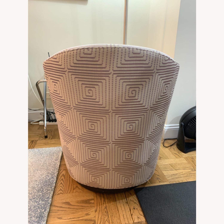 Custom Upholstered Swivel Accent Chair - image-4