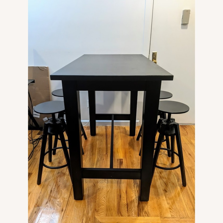 IKEA Modern High Top Dining Table Set - image-0