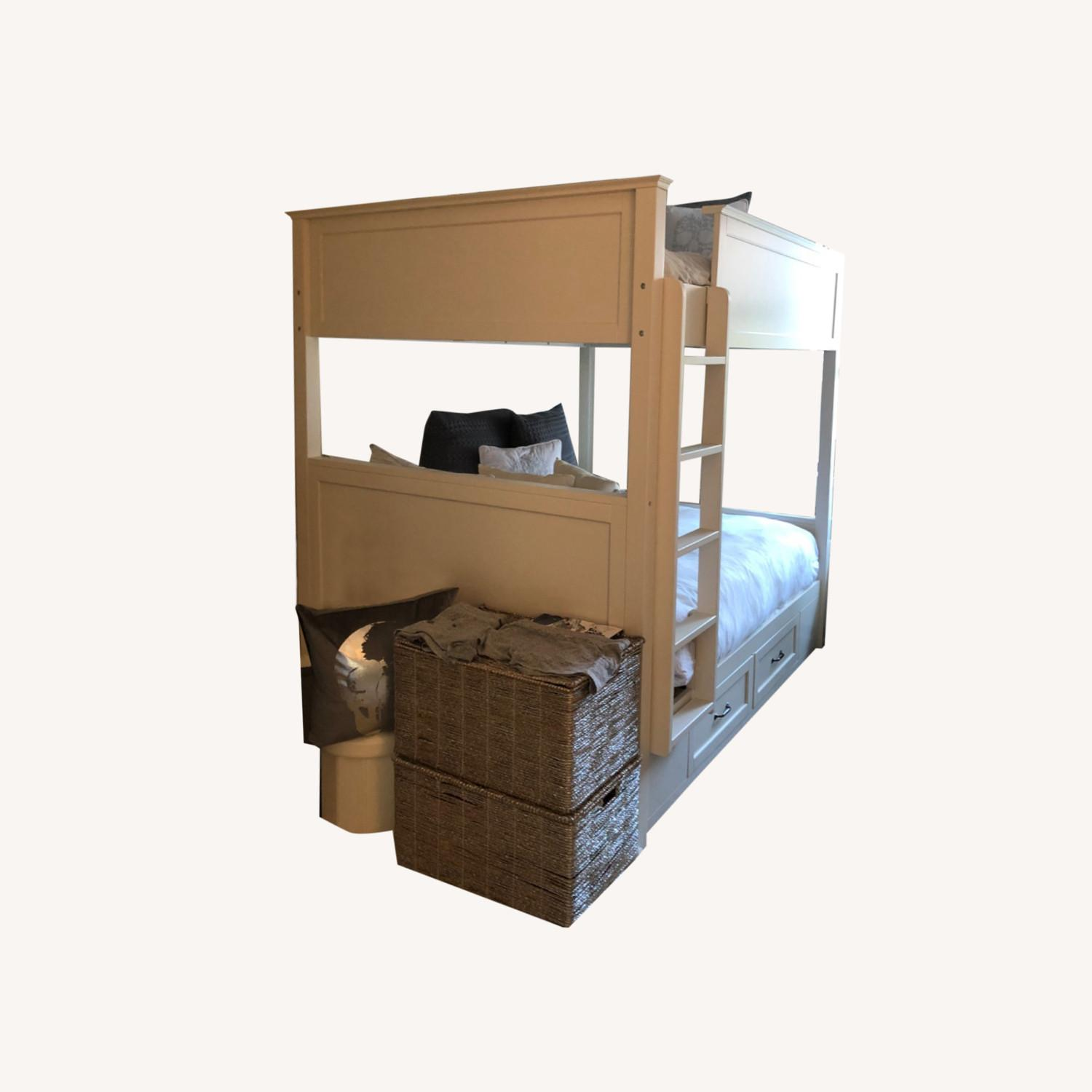 Pottery Barn White Full Bunk Bed - image-0