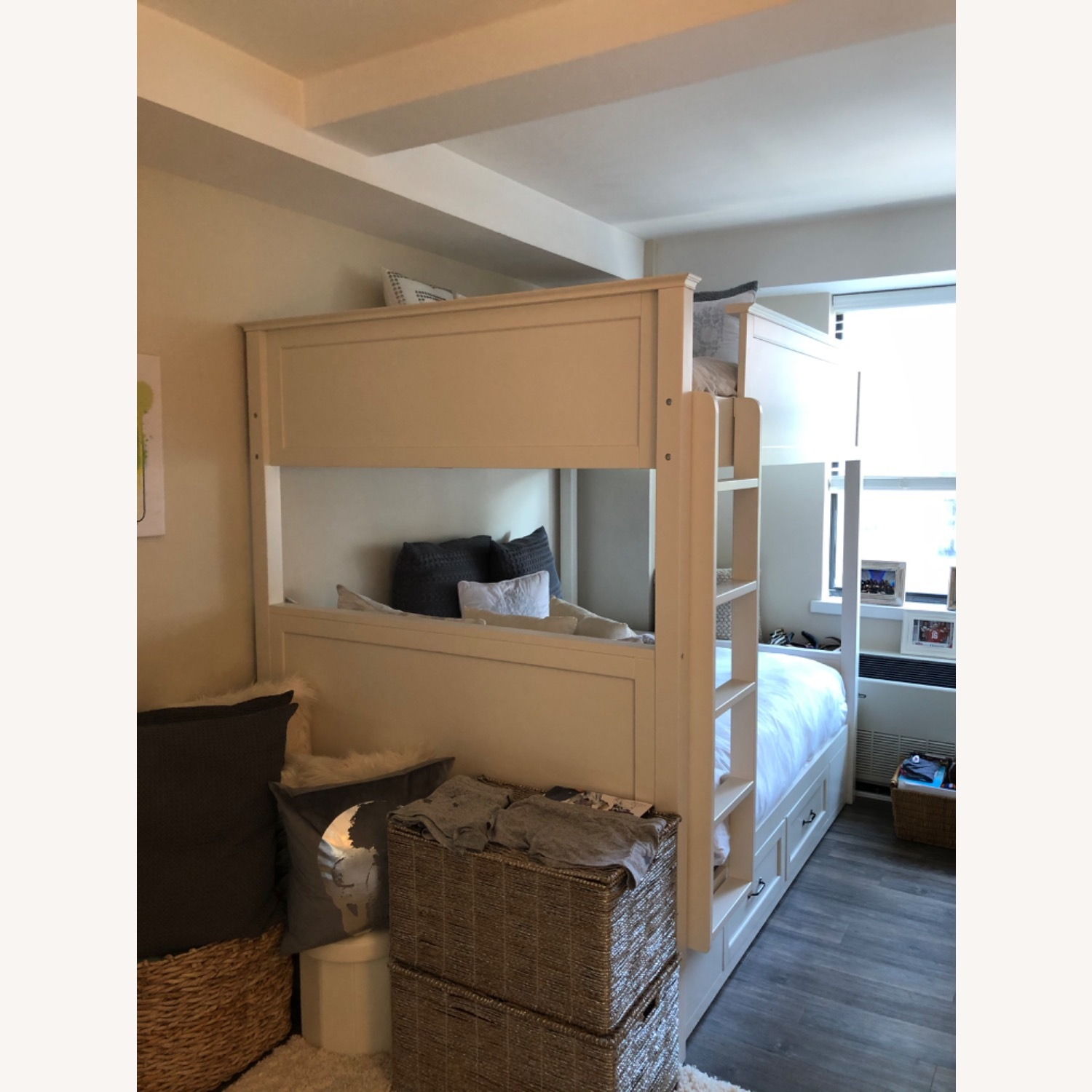Pottery Barn White Full Bunk Bed - image-3