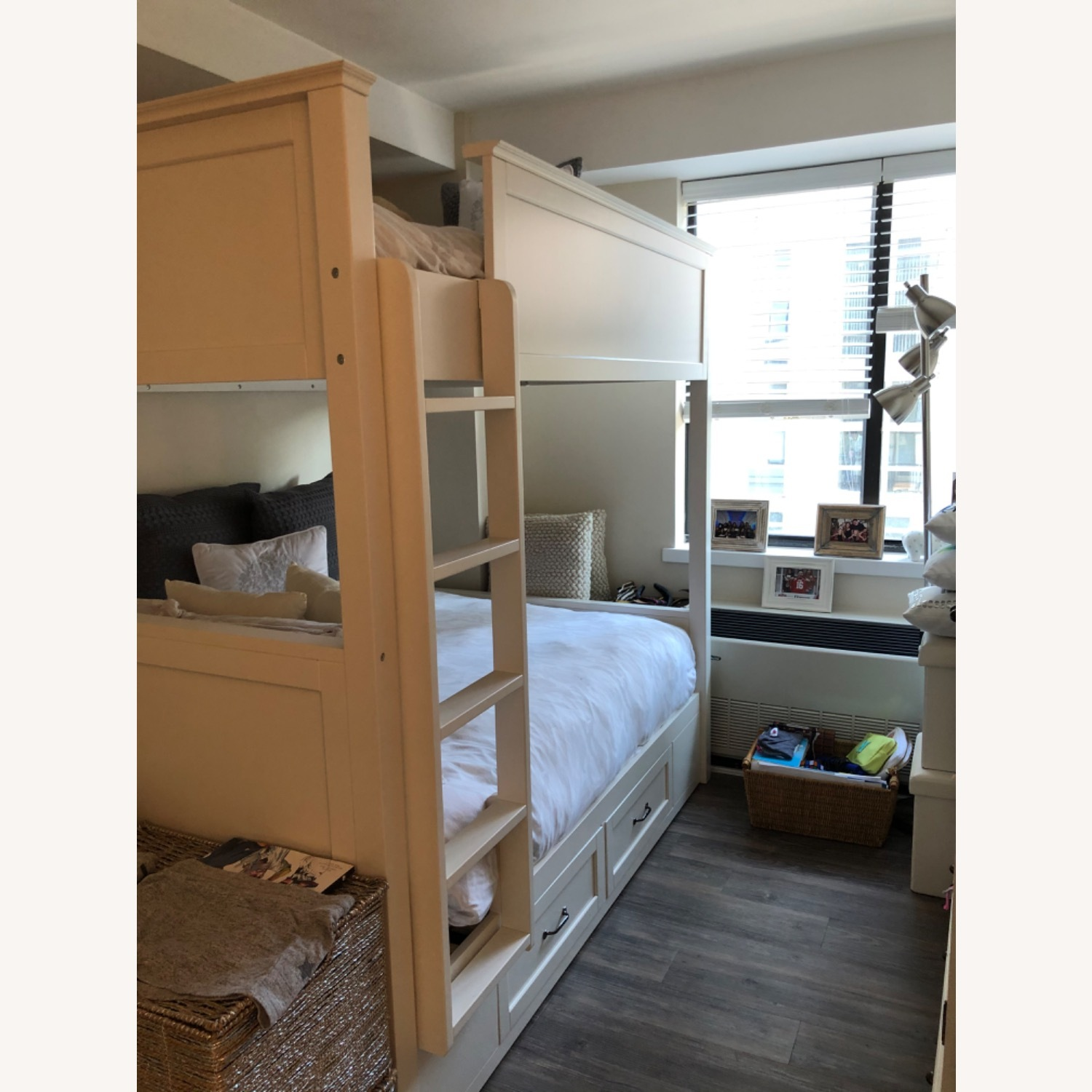 Pottery Barn White Full Bunk Bed - image-2