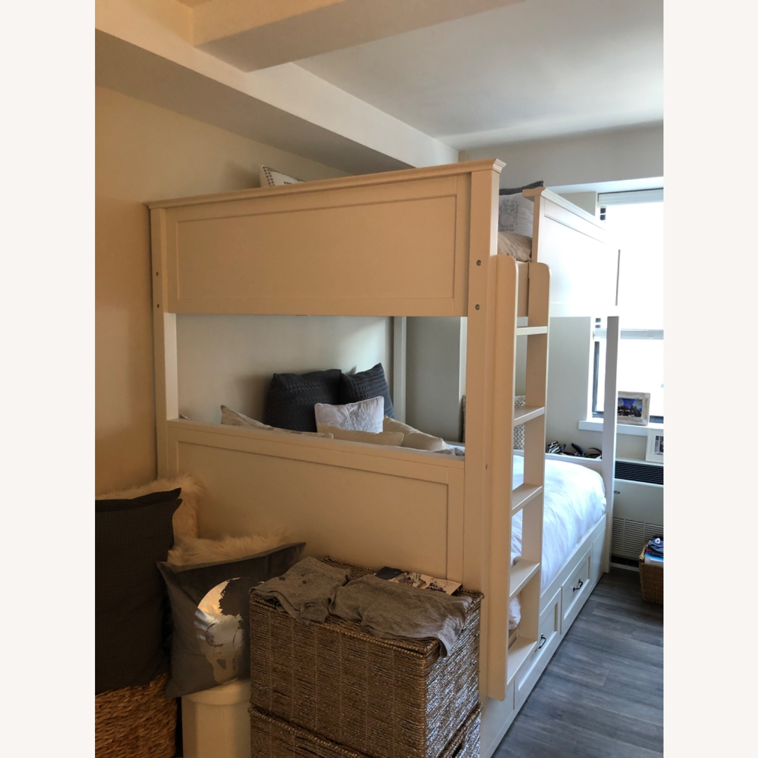 Pottery Barn White Full Bunk Bed - image-1