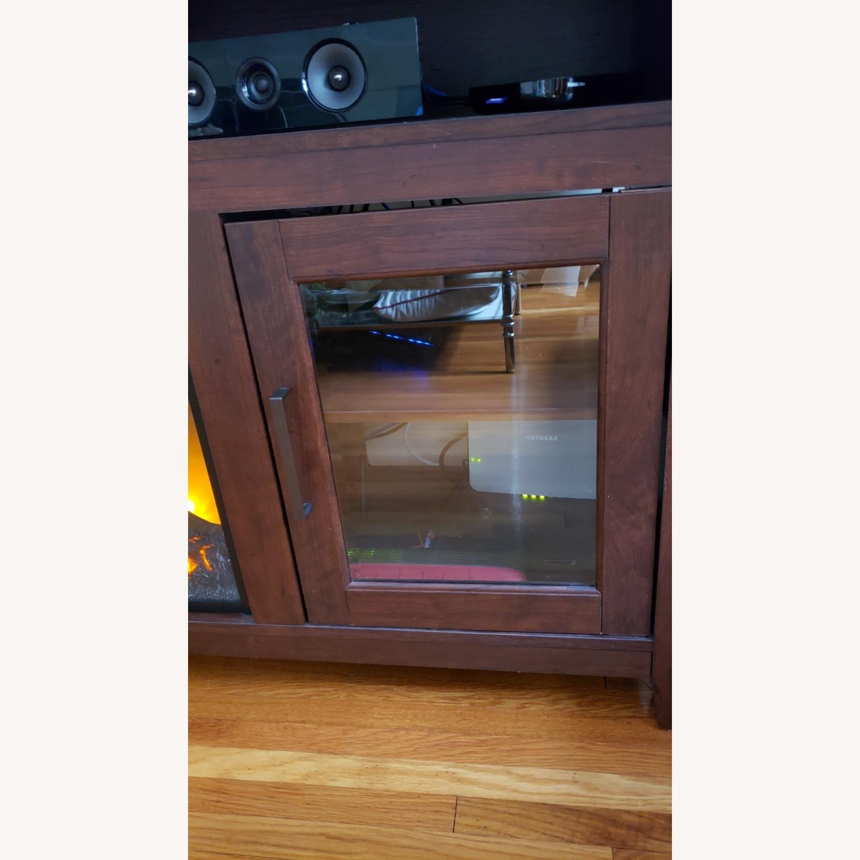 Wayfair Fireplace TV Stand Dark Brown - image-9