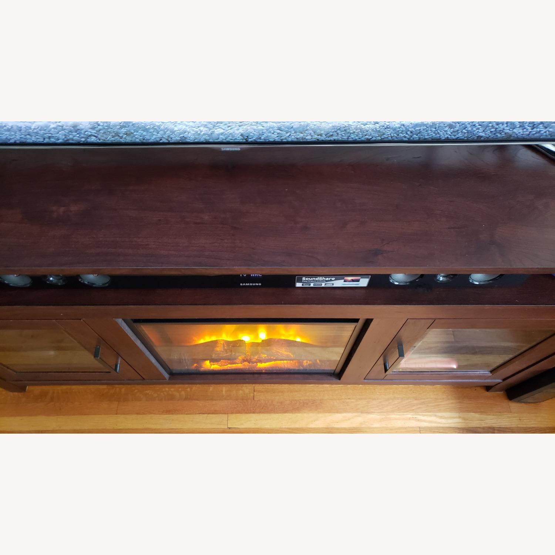 Wayfair Fireplace TV Stand Dark Brown - image-13