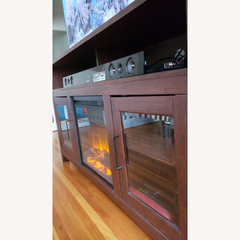 Wayfair Fireplace TV Stand Dark Brown - image-5