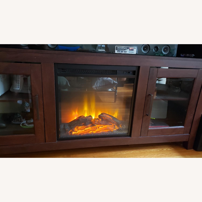 Wayfair Fireplace TV Stand Dark Brown - image-6