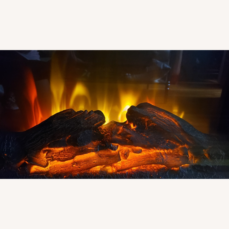 Wayfair Fireplace TV Stand Dark Brown - image-7