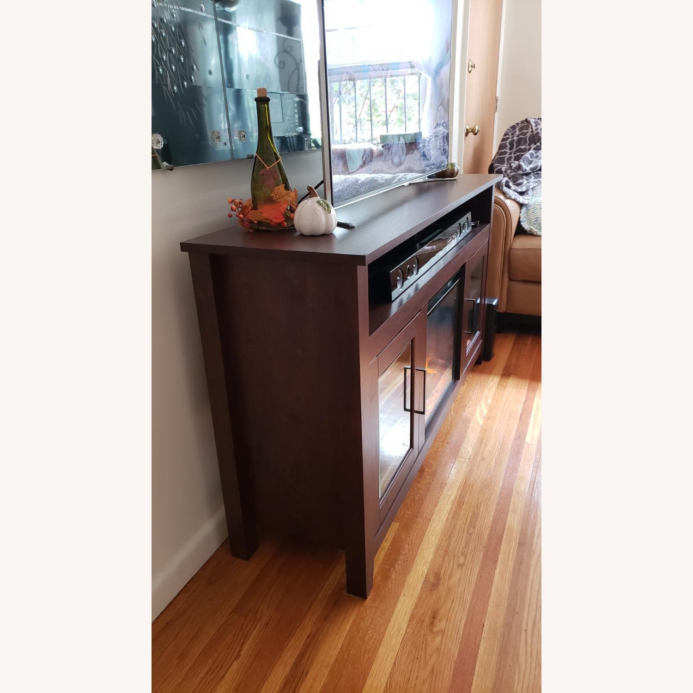 Wayfair Fireplace TV Stand Dark Brown - image-3