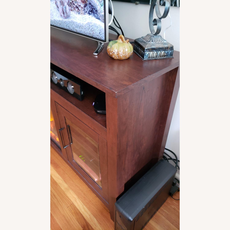 Wayfair Fireplace TV Stand Dark Brown - image-4
