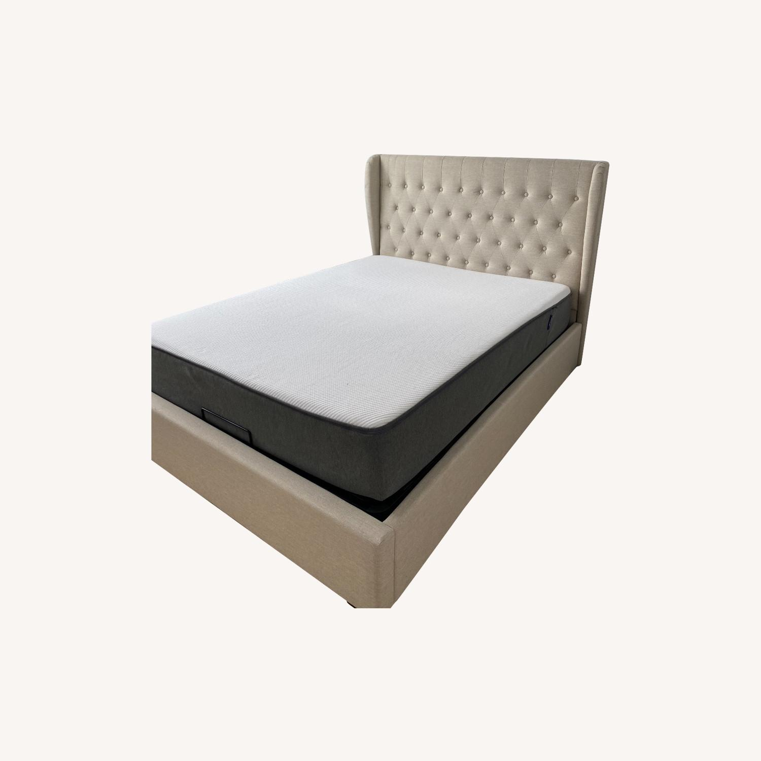 Wayfair Upholstered Storage Platform Queen Bed Aptdeco
