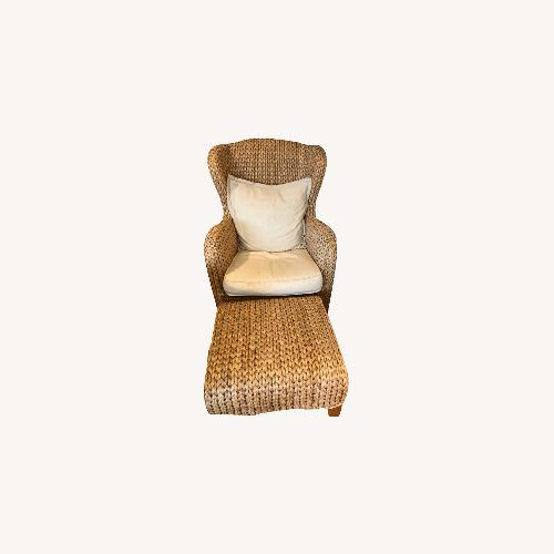 Used Beige Wicker Accent Chair for sale on AptDeco