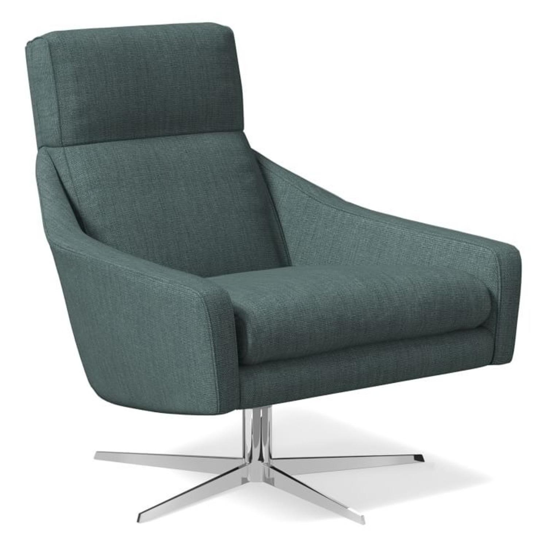 West Elm Austin Swivel Base Chair - image-1