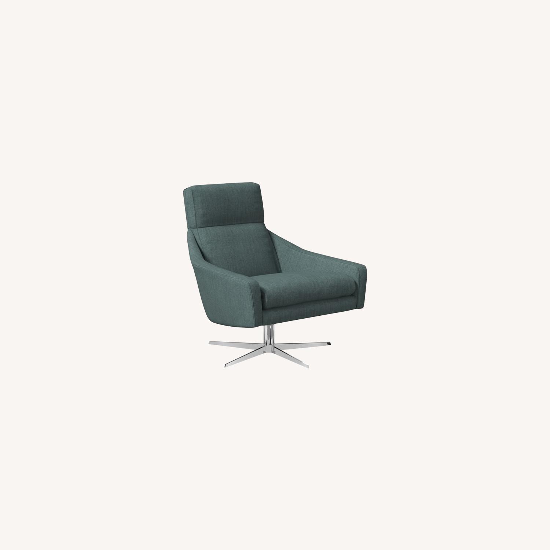 West Elm Austin Swivel Base Chair - image-0