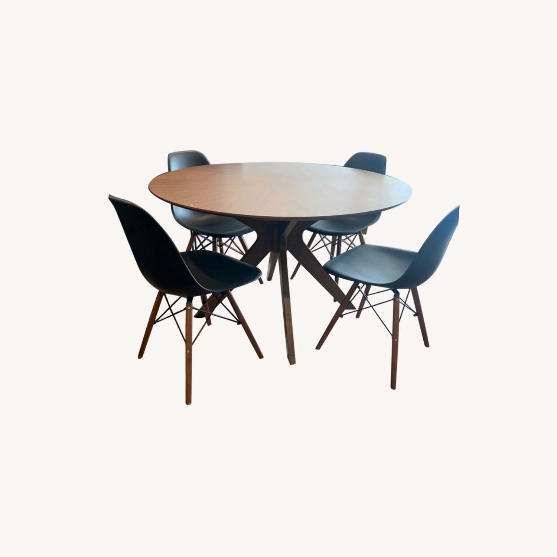Wayfair Mod Wood Dining Set - image-0
