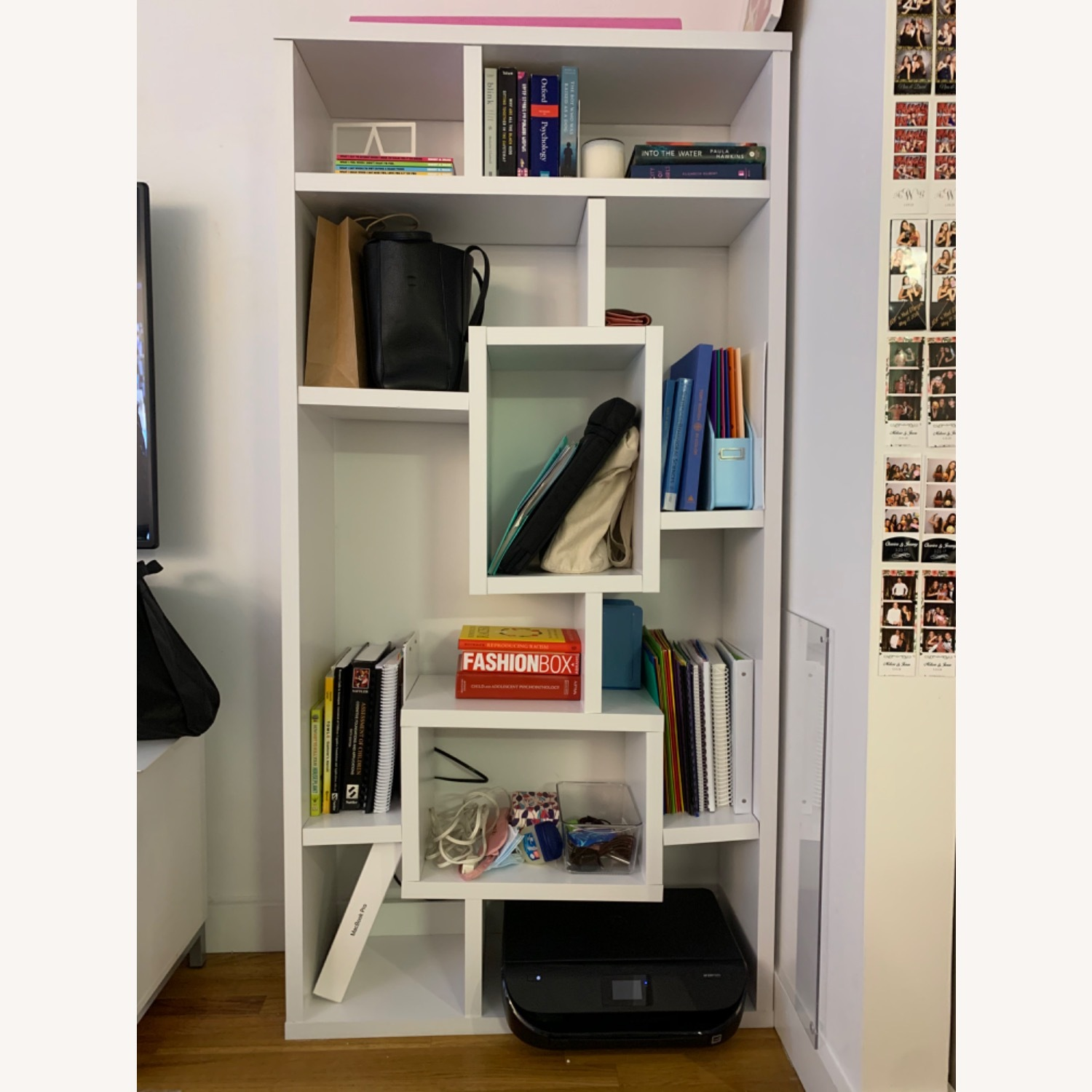 White Geometric Shelves - image-3