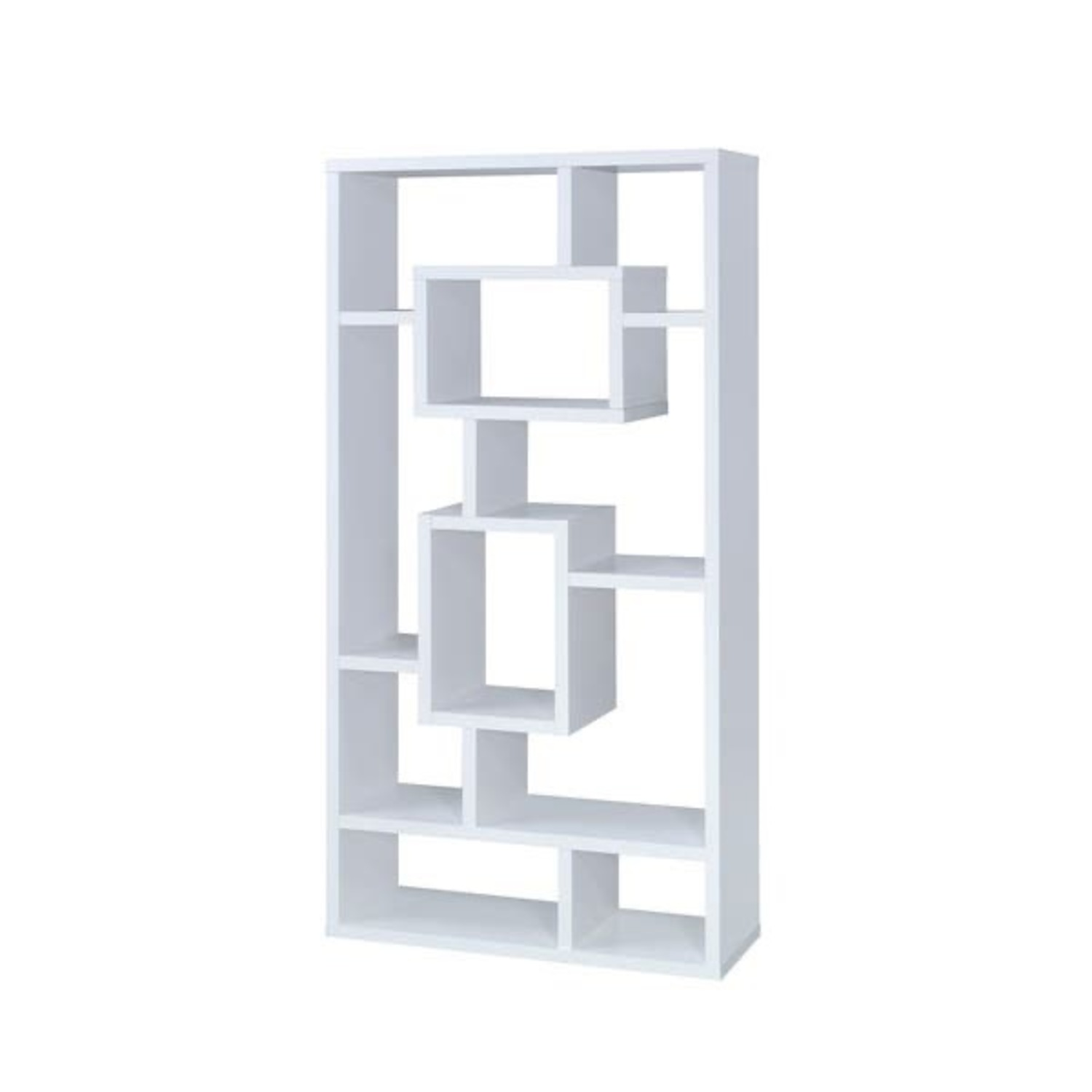 White Geometric Shelves - image-0