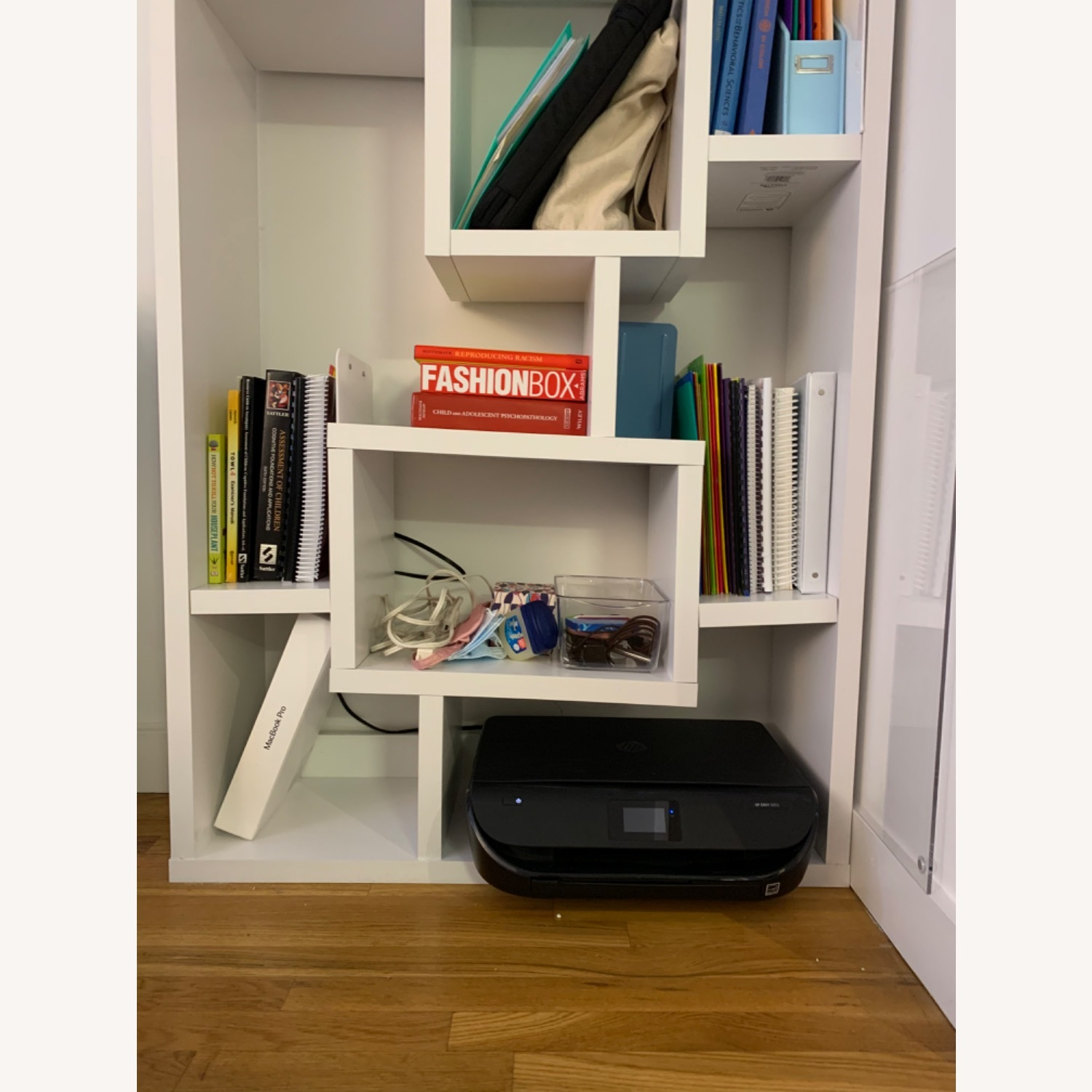 White Geometric Shelves - image-4