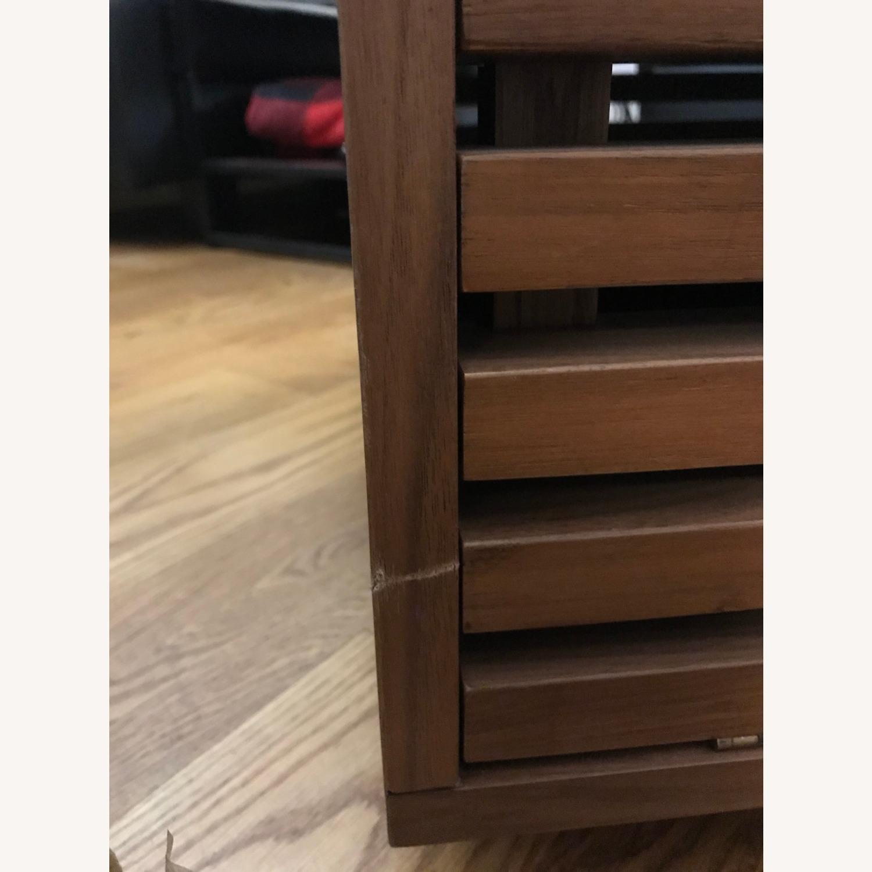 West Elm Slatted Wood Storage Coffee Table - image-5